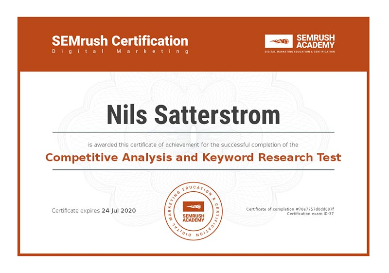 SEMrush-competitive analysis certification